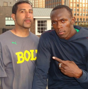 Here I am with Olympic Champion Usain Bolt!